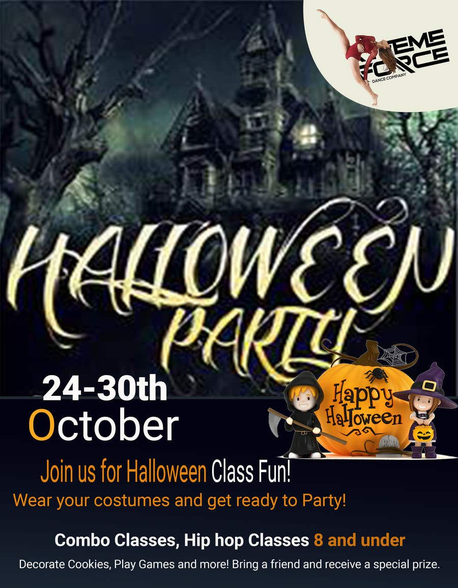 entry 48 by fariaakter01 for design a flyer halloween party