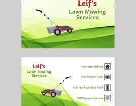 "#7 untuk Business card logo and design.  Description - "" Leif's Lawn Mowing Services ""  Please contact Leif for a free quote today on: 04 ***** number will be provided to winner.      FYI ** This is for a lawn mowing business ** oleh Marinaskyart"