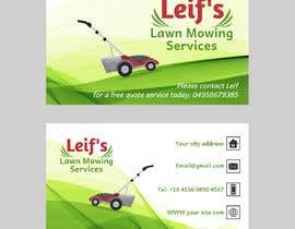 "#8 untuk Business card logo and design.  Description - "" Leif's Lawn Mowing Services ""  Please contact Leif for a free quote today on: 04 ***** number will be provided to winner.      FYI ** This is for a lawn mowing business ** oleh Marinaskyart"