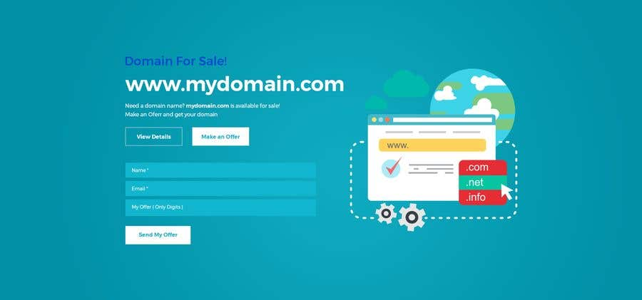 Entry 48 By Jaharaswapnil For Build A Creative Single Page Domain