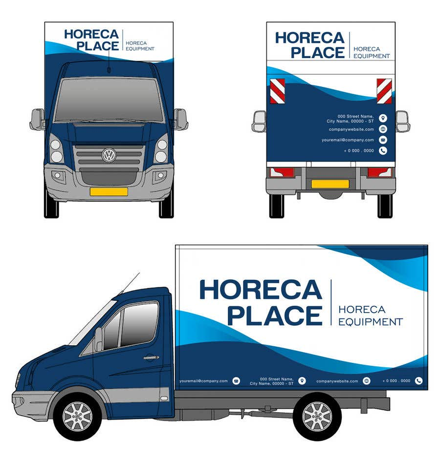 Penyertaan Peraduan #19 untuk I am looking for a nice design for our company van