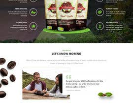 nº 24 pour Website single page graphic design Coffee Farm par digitaldwar