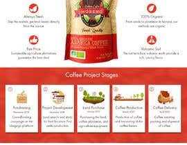 nº 16 pour Website single page graphic design Coffee Farm par joshuaianuxui