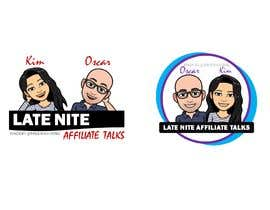 """Nro 10 kilpailuun Logo for """"Late Night Affiliate Talks with Kim & Oscar"""" Podcast käyttäjältä mileskagomez"""