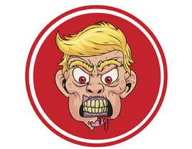 #4 cho Caricature style vector of President Trump looking like a zombie bởi fiq5a69f88015841
