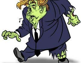 #12 cho Caricature style vector of President Trump looking like a zombie bởi wmdmorrow