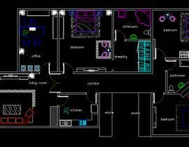 #12 для make interior furniture layout for residential villa by autocad от misalpingua03