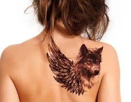 #19 for 1 Wolf & 1 wing Tattoo Design af hossaingpix