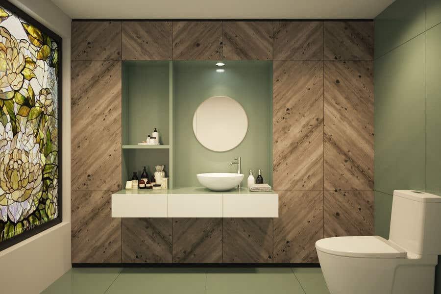 . Entry  1 by gaur1973 for Powder room  small washroom interior design