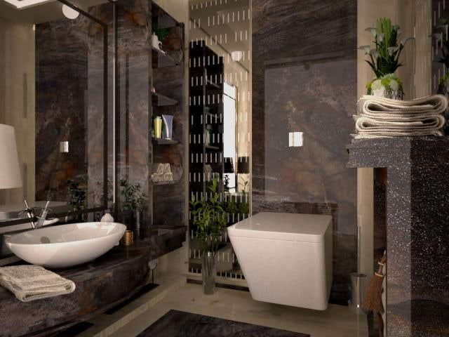 . Entry  11 by nedaaelislam44 for Powder room  small washroom interior