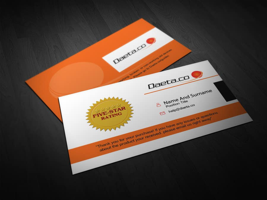 Entry 9 by tahira11 for design business cards for 5 star feedback contest entry 9 for design business cards for 5 star feedback product sales reheart Choice Image