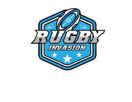 #27 for I need a logo designed for a Rugby news website.  Website name - Rugby Invasion  Logo Ideally consist of RI (higher or lowercase) Rugby Invasion  Ruby ball or the shape Rugby posts  Looking for vibrant colours by aqibzahir06