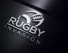 #18 for I need a logo designed for a Rugby news website.  Website name - Rugby Invasion  Logo Ideally consist of RI (higher or lowercase) Rugby Invasion  Ruby ball or the shape Rugby posts  Looking for vibrant colours by baharhossain80