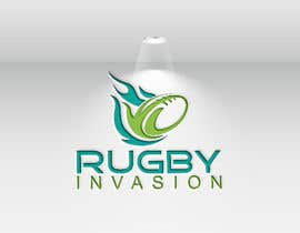 #12 for I need a logo designed for a Rugby news website.  Website name - Rugby Invasion  Logo Ideally consist of RI (higher or lowercase) Rugby Invasion  Ruby ball or the shape Rugby posts  Looking for vibrant colours by issue01