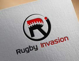 #7 for I need a logo designed for a Rugby news website.  Website name - Rugby Invasion  Logo Ideally consist of RI (higher or lowercase) Rugby Invasion  Ruby ball or the shape Rugby posts  Looking for vibrant colours by fatherdesign1