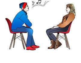 #17 per Illustration 2 people in chairs who sing da letindorko2