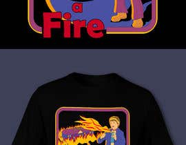 "#17 for graphic design - retro cartoon illustration - ""lets start a fire"" by imperartor"