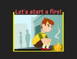 "#12 for graphic design - retro cartoon illustration - ""lets start a fire"" by amirasyazwani08"