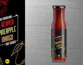 #35 for Bottle Label for a Pineapple Mango & Carolina Reaper Hot Sauce by Roshei