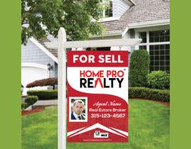 #95 for DESIGN A FOR SALE SIGN FOR A REAL ESTATE COMPANY by AR1069