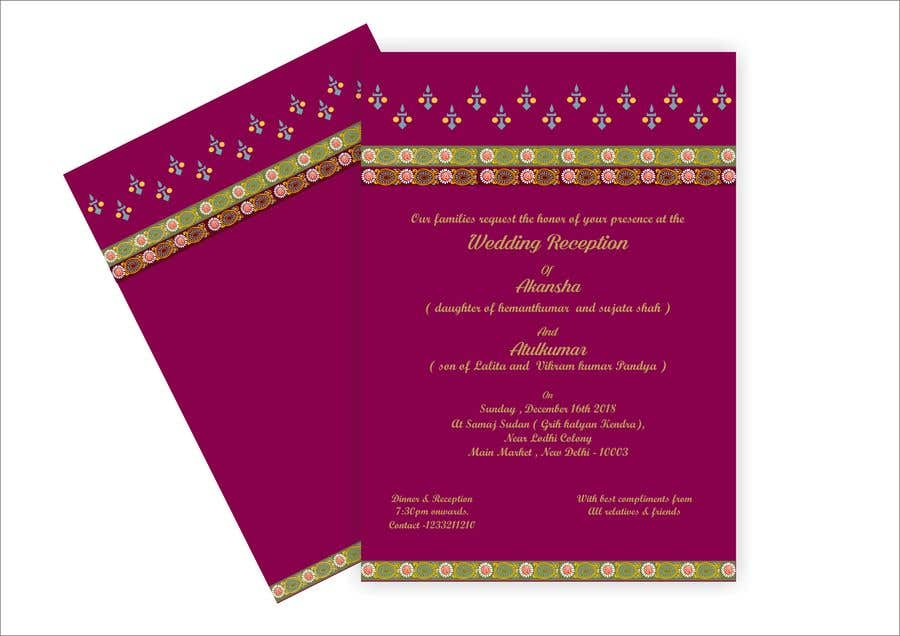 Entry 16 By Narvekarnetra02 For Hindu Wedding Invitation Card