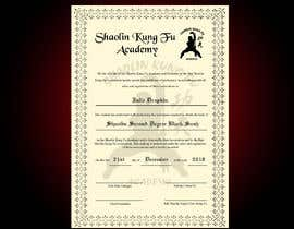 nº 18 pour Shaolin Kung Fu Certificate par jeevanmalra
