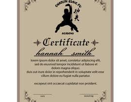 #9 untuk Shaolin Kung Fu Certificate oleh atiqurrahmanm25
