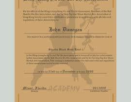 #12 untuk Shaolin Kung Fu Certificate oleh Heartbd5