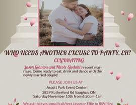 Nro 25 kilpailuun post wedding reception e-vite käyttäjältä Fariaakter01