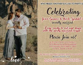 Nro 21 kilpailuun post wedding reception e-vite käyttäjältä Binwans