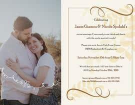 Nro 28 kilpailuun post wedding reception e-vite käyttäjältä pravina