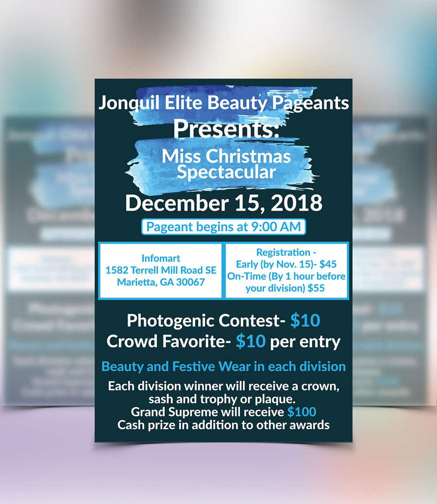 contest entry 2 for beauty pageant flyer needed