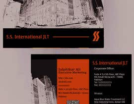 nº 52 pour Business Card Design for S.S. International par anirbanghosh99