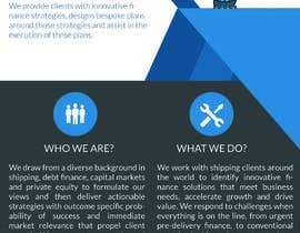 #81 for Create a Corporate Fact Sheet (Teaser) for a Ship-Finance Consulting Firm by AndreaGergely