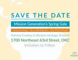 arthur2341 tarafından Design a Save the Date (Invitation) to a benefit Gala. için no 2