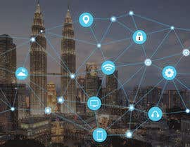 #31 cho Need IoT Internet of Things skyline created bởi htmlsafayet