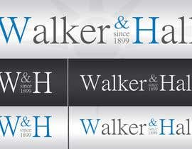 #108 untuk Logo Design for Walker and Hall oleh metisigor