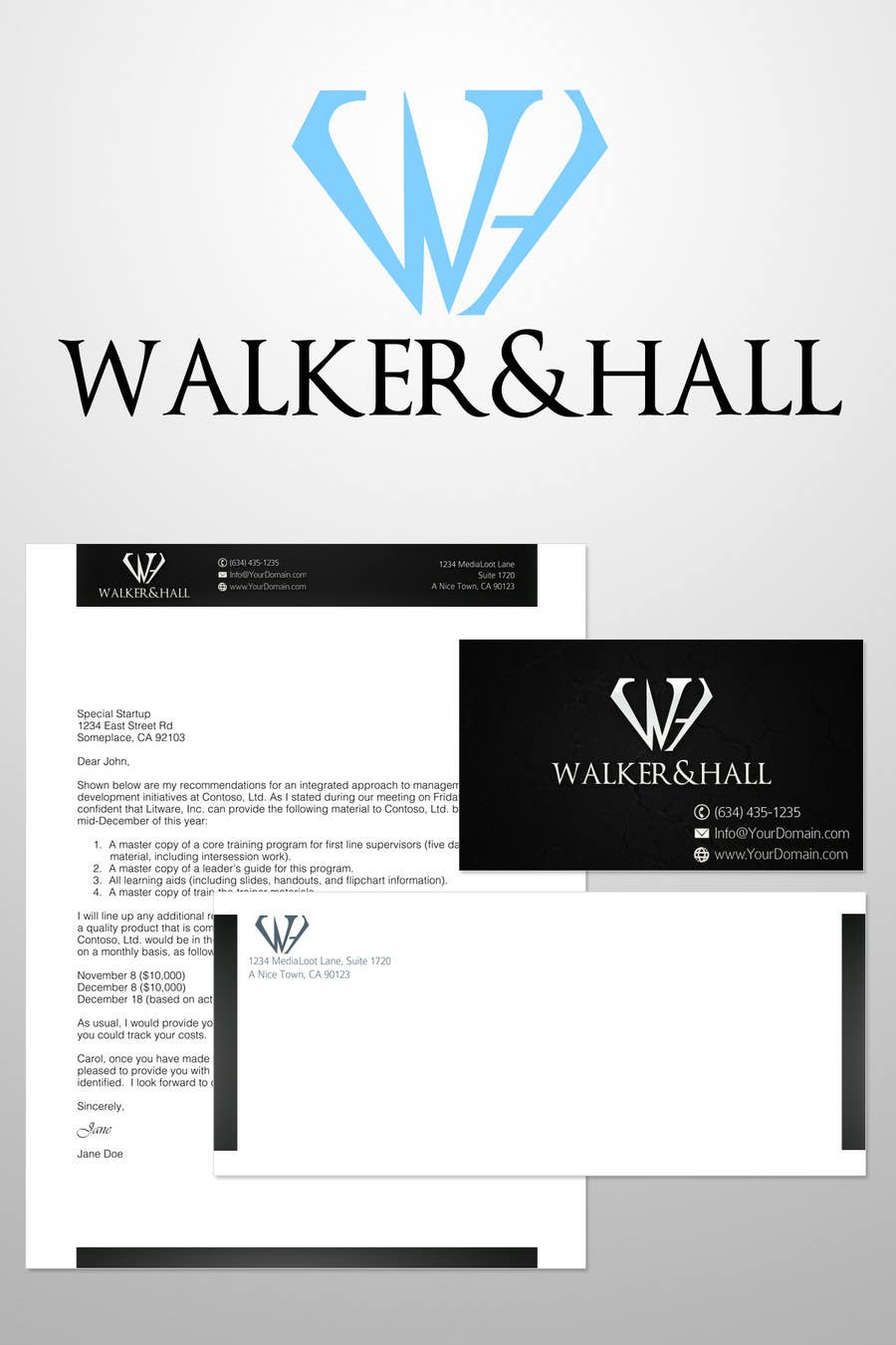 Contest Entry #246 for Logo Design for Walker and Hall