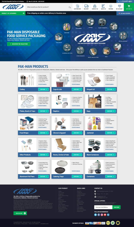 Konkurrenceindlæg #108 for Redesign Homepage of Storefront