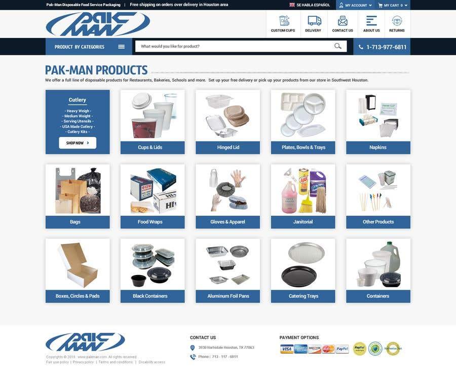 Konkurrenceindlæg #116 for Redesign Homepage of Storefront