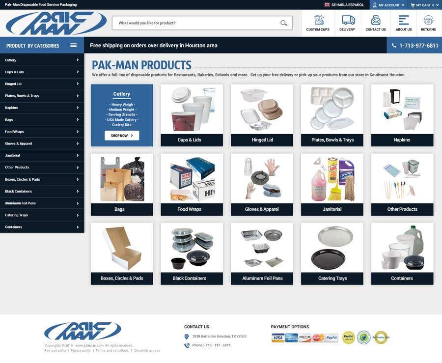 Konkurrenceindlæg #119 for Redesign Homepage of Storefront