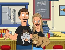 #14 for Draw me, my wife, and our cats in a custom Bob's Burgers portrait af Rotzilla