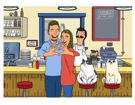 #11 for Draw me, my wife, and our cats in a custom Bob's Burgers portrait af berragzakariae