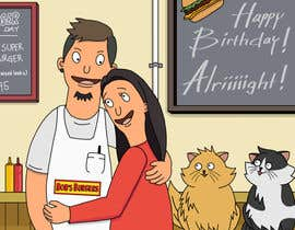#6 for Draw me, my wife, and our cats in a custom Bob's Burgers portrait af felixhadi