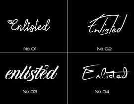 #63 para Custom Cursive fashion font for logo por bcelatifa
