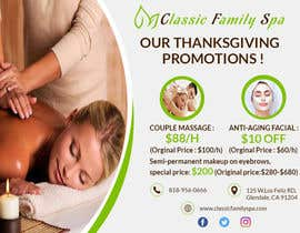 #41 for Design a thanksgiving seasonal promotional banner ad for a spa af graphictionaryy