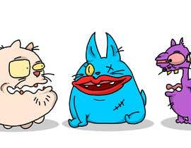 #139 for Draw 3 funny cartoon animals by CiroDavid