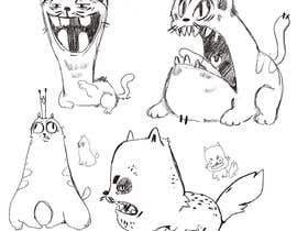 #243 for Draw 3 funny cartoon animals by valeriapotaichuk