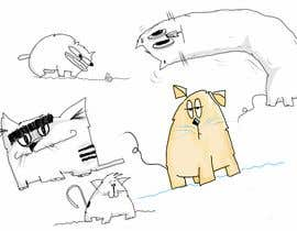 #245 for Draw 3 funny cartoon animals by NotaTasarim