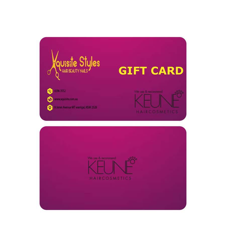 Participación en el concurso Nro.                                        31                                      para                                         Gift Card Design in DL Size for a Salon